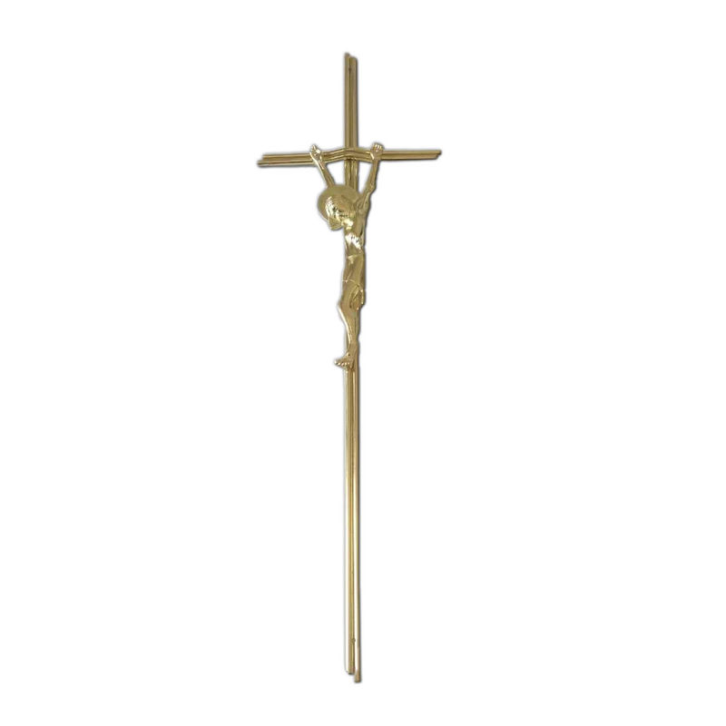 Italy Style Coffin Casket Iorn Cross With Zamak Jesus Ref No D067 Size 65×19 Cm